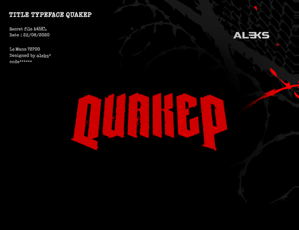 Quakep Free Hipster Font
