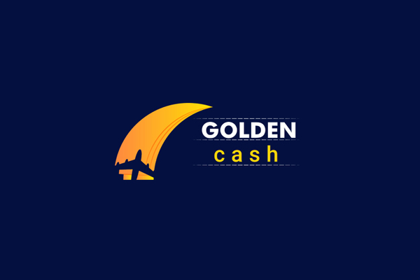 Golden Cash Modern Logo Design by Adobe Rana