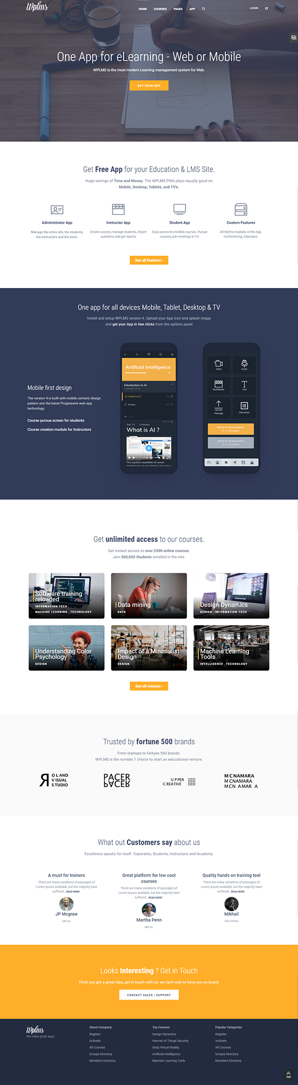 WPLMS Learning Management System for WordPress Theme