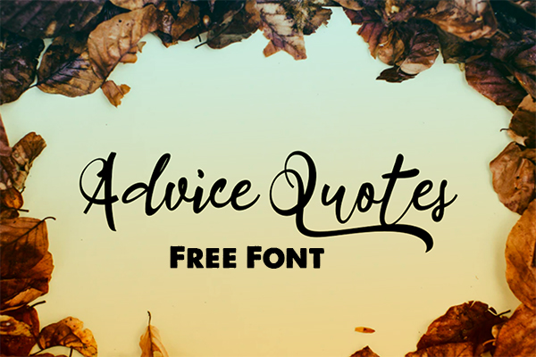 Advice Quotes Free Font