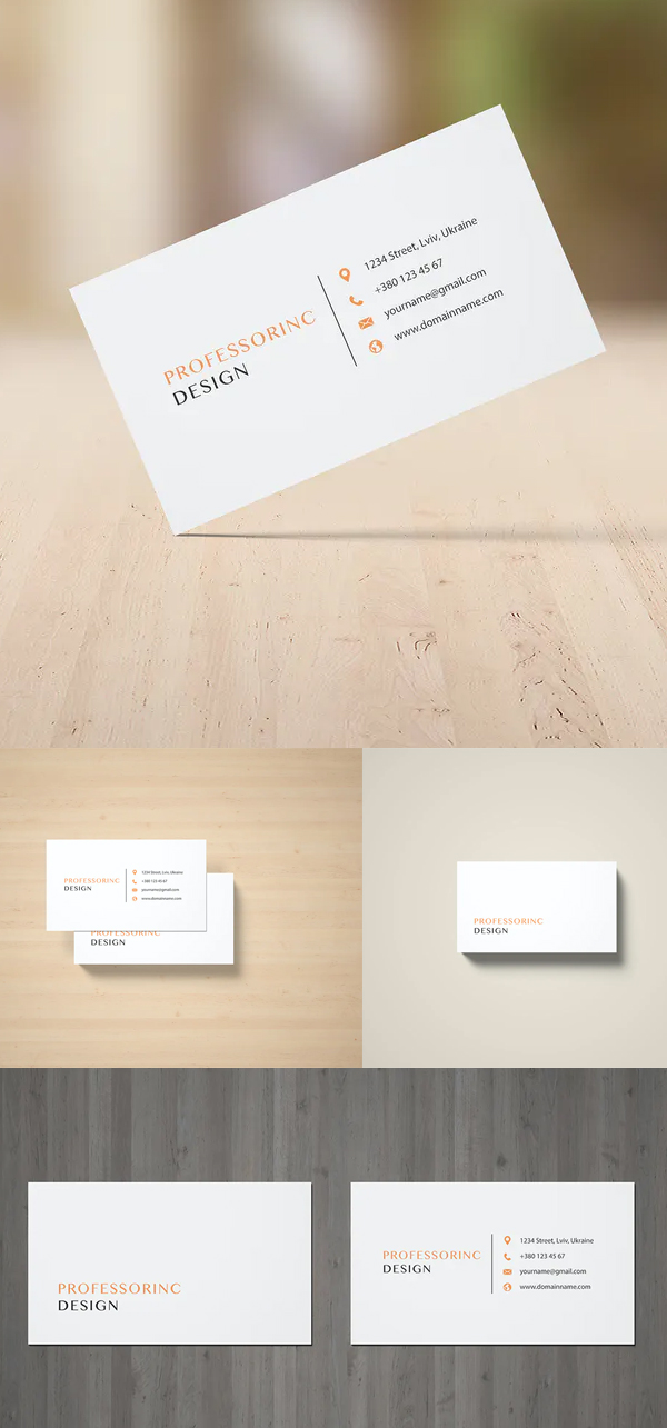 3.5x2'' Business Card Mockup