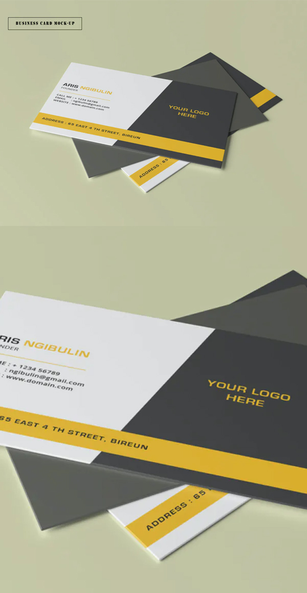 Simple Business Card Mock-Up