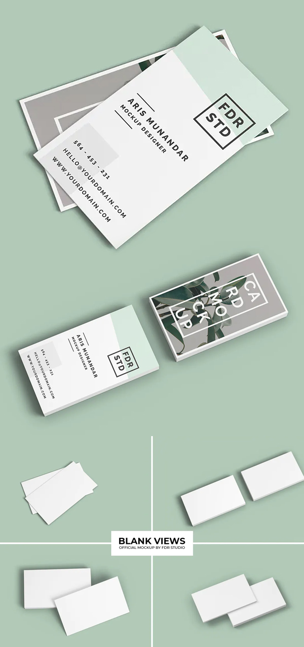 Business Card Mockup For Visual Look