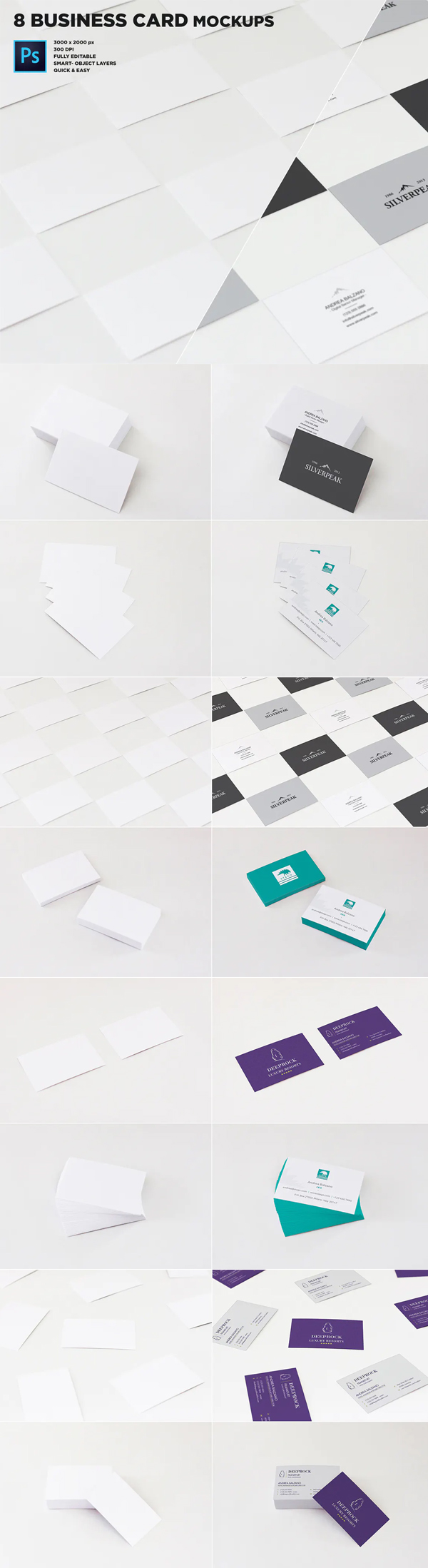 Real Photo Business Card Mockups