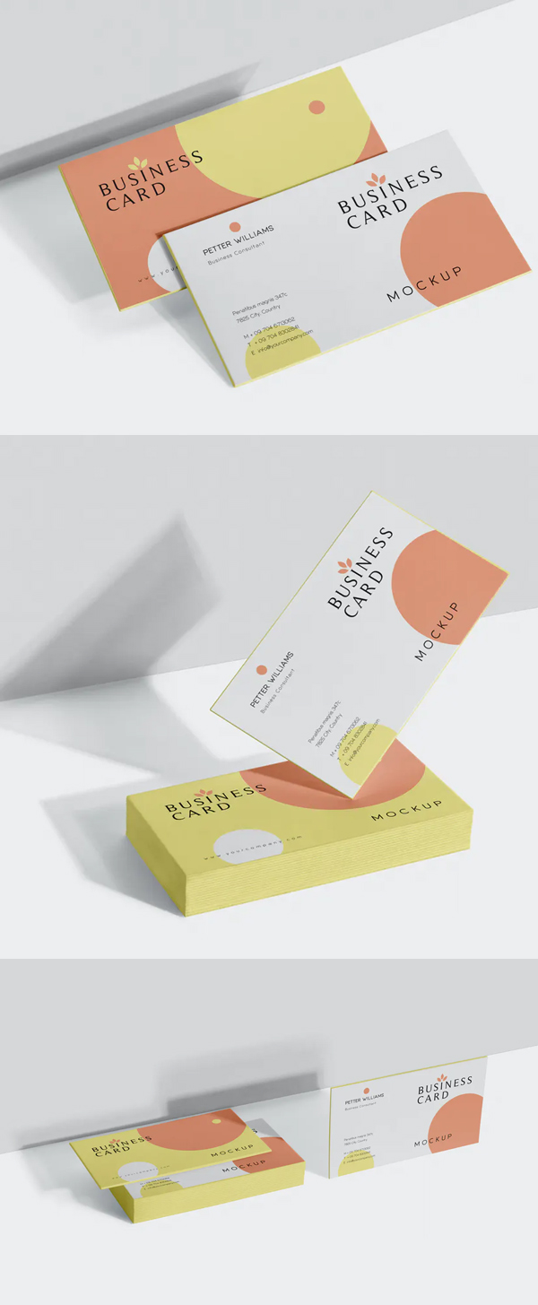 Corporate Business Card Mock-Ups
