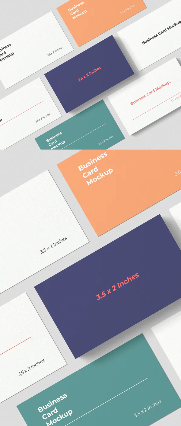 Smart Object Business Card Mockups