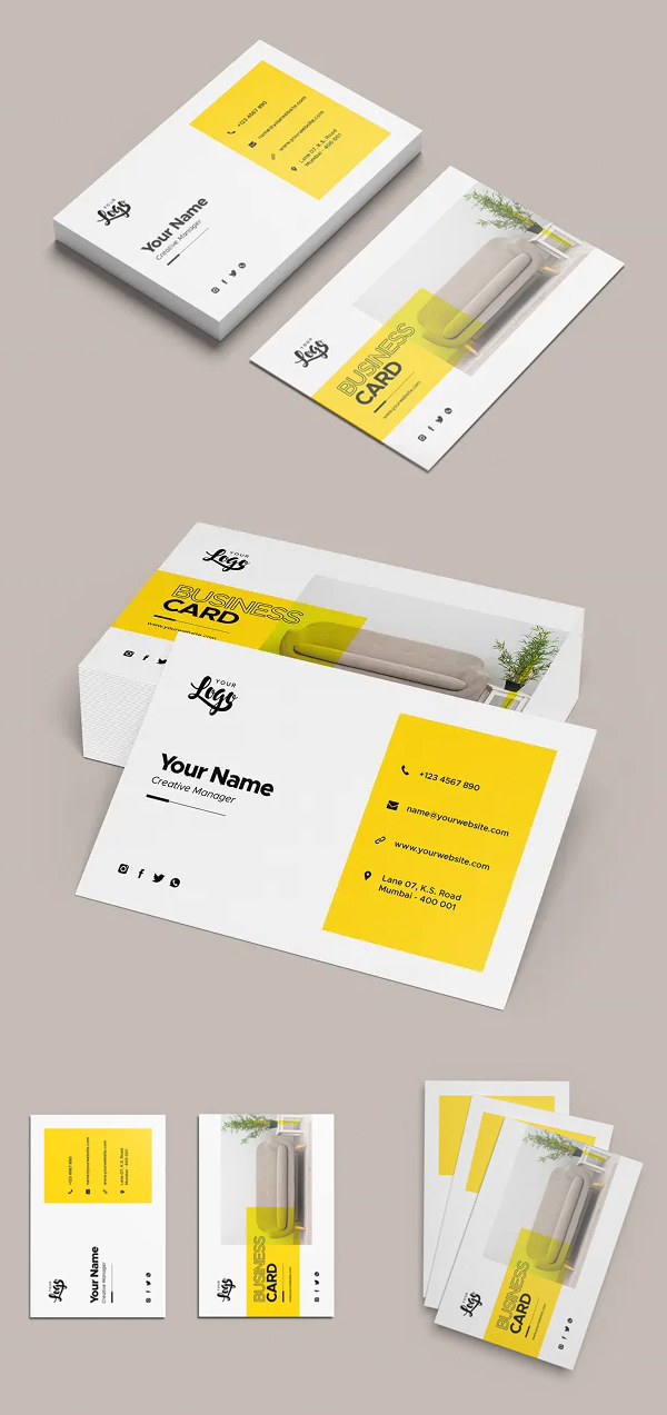 Stylish Business Card Mockup