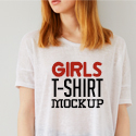 Post Thumbnail of 21 Best Girls T-Shirt Mockups