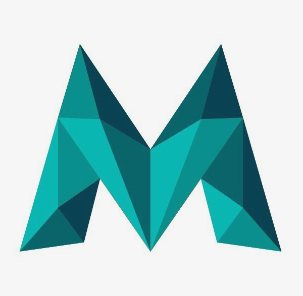 How to Design Low Poly Letter M Logo in Illustrator Tutorial