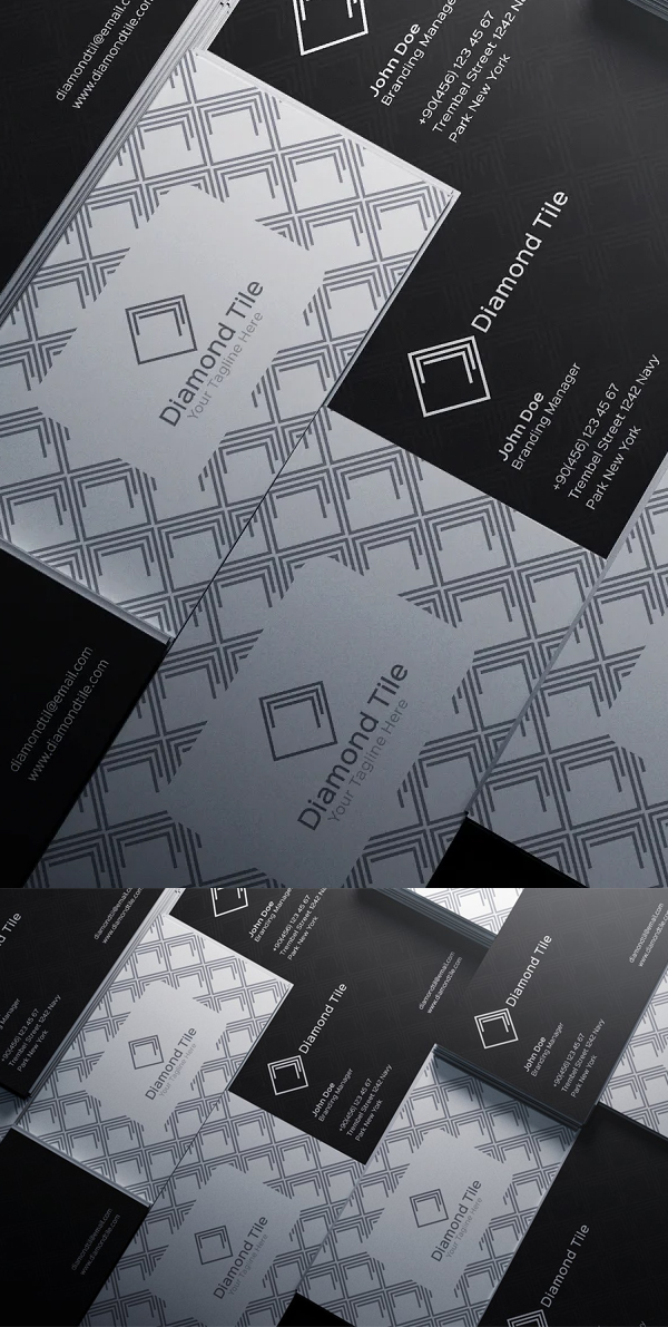 Simple Business Card With Pattern