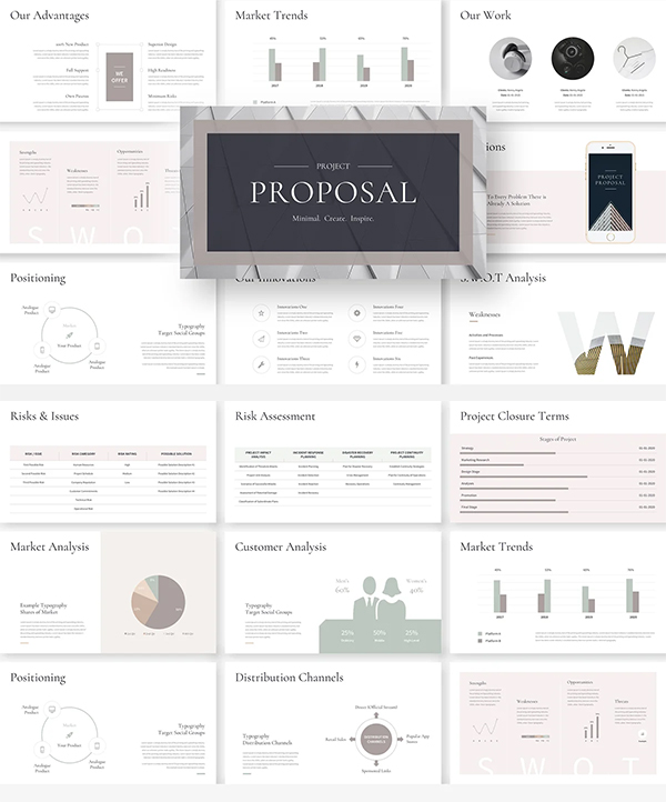 Elegant Project Proposal PowerPoint Template