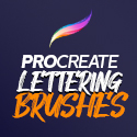Post thumbnail of 26 Best Lettering Procreate Brushes