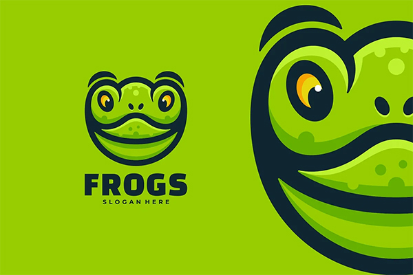 Frogs Simple Mascot Logo