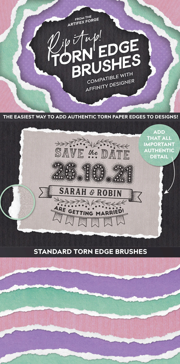Rip It Up! - Torn Edge Brushes - AD