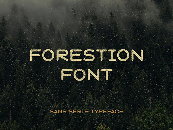 Forestion Display Free Font
