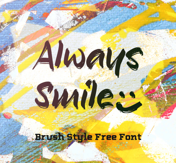 Always Smile Brush Free Font Free Font