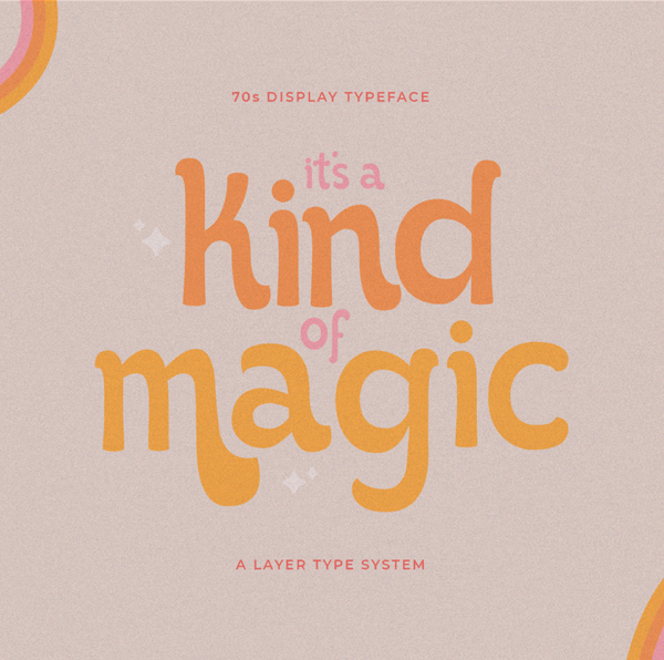 It's Kind of Magic Retro Free Font Free Font
