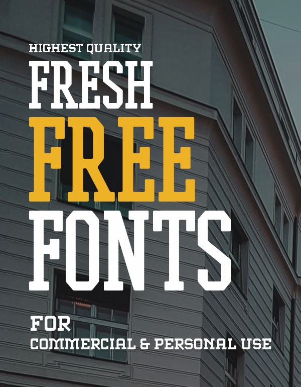 30 Fresh Free Fonts For Graphic Designers