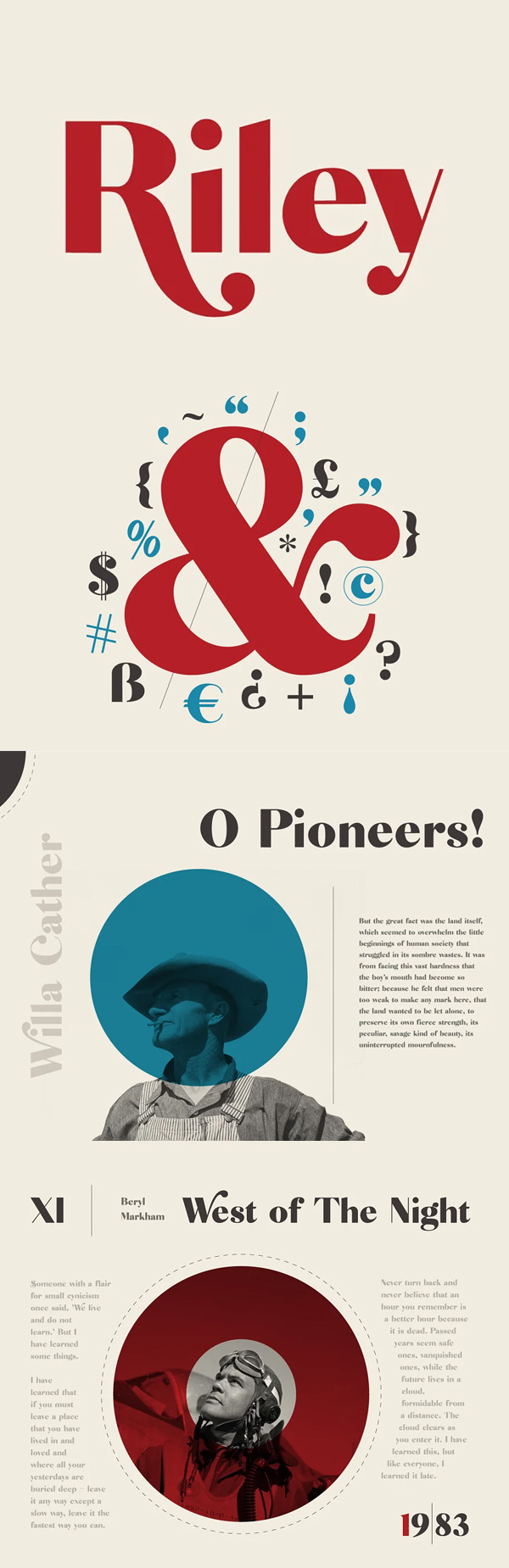 Riley - A Modern Typeface Free Font
