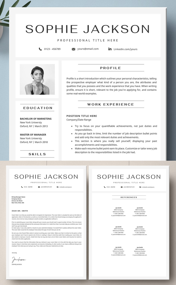 Resume With Picture / CV With Photo