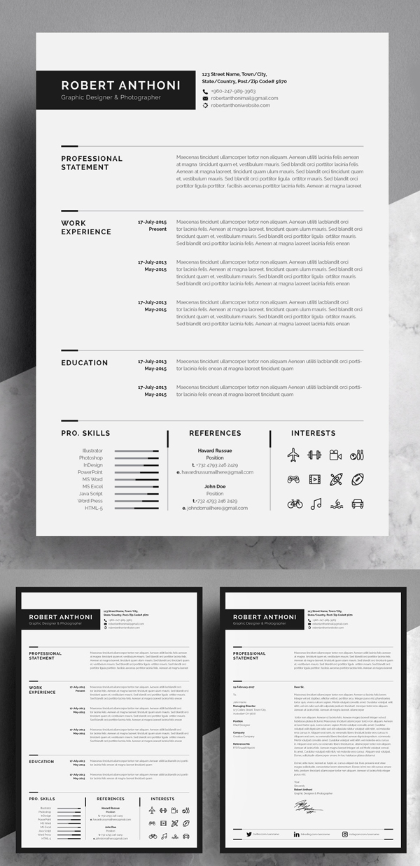 Creative and Professional Resume Design Template