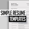 Post Thumbnail of Resume Templates: 25+ Best Simple, Clean CV / Resumes