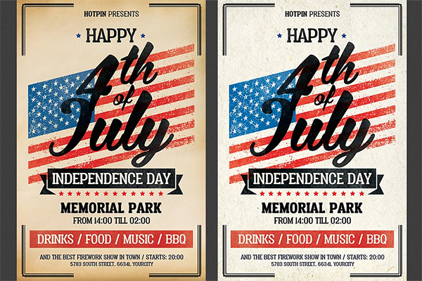 Unique 4th of July Flyer