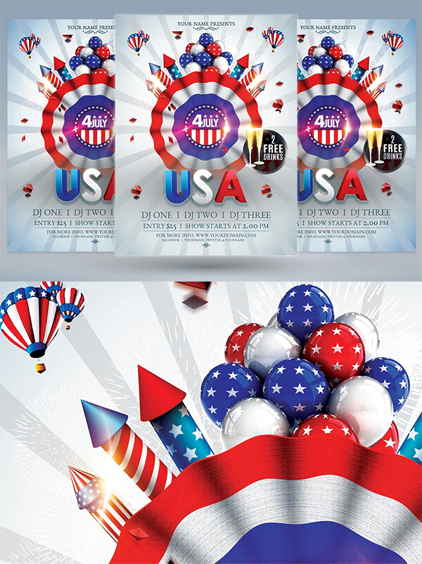 Coloful 4th of July Flyer