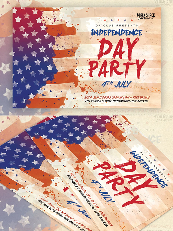 Veteran's Day and 4th of July Flyer