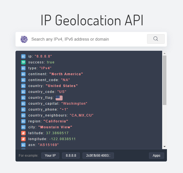 Review for IP Geolocation API