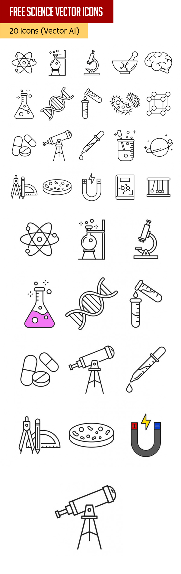 20 Science Vector Icons