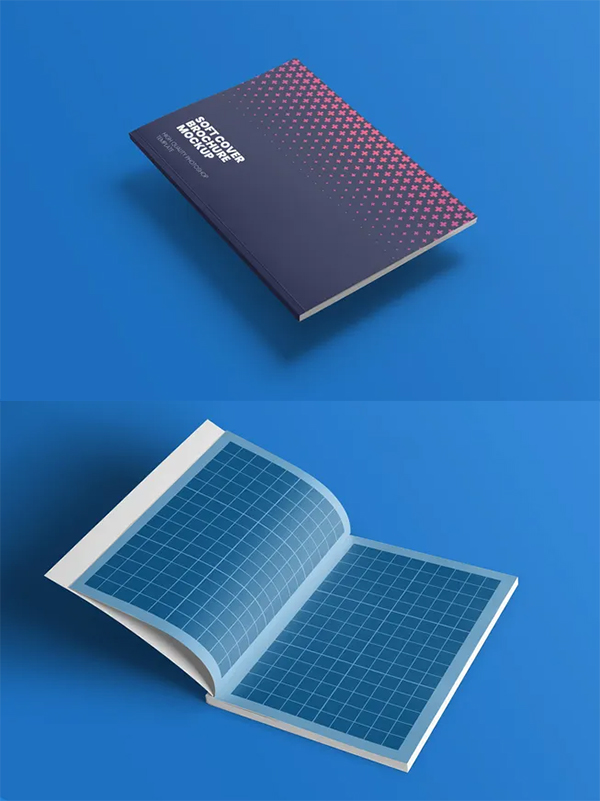 Softcover Brochure Mockup Free PSD