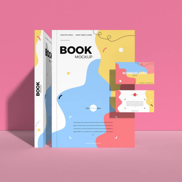 Free Book With Business Card Mockup Free Font