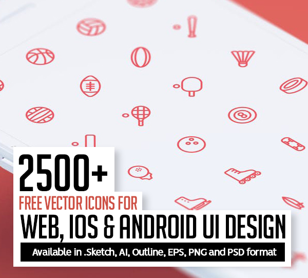 2500+ Free Vector Icons for Web, iOS and Android UI Design