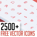 Post thumbnail of 2500+ Free Vector Icons for Web, iOS and Android UI Design