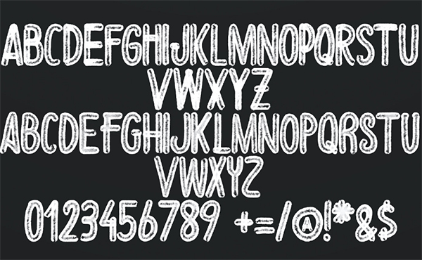 Gate Font Letters and Numbers