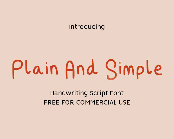 Plain And Simple Free Font