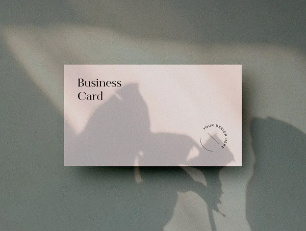Business Card Mockups with Shadow