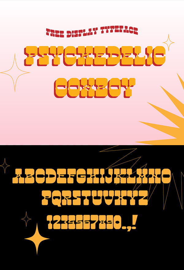 Psychedelic Cowboy Free Font