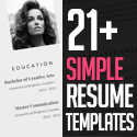 Post Thumbnail of 21+ Simple Clean Resume Templates and Cover Letter Designs