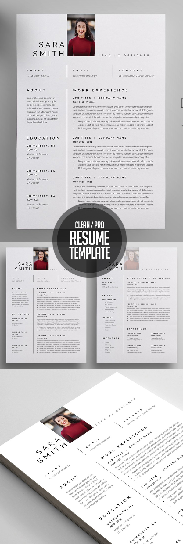 Clean and Professional Resume Design & Cover Letter