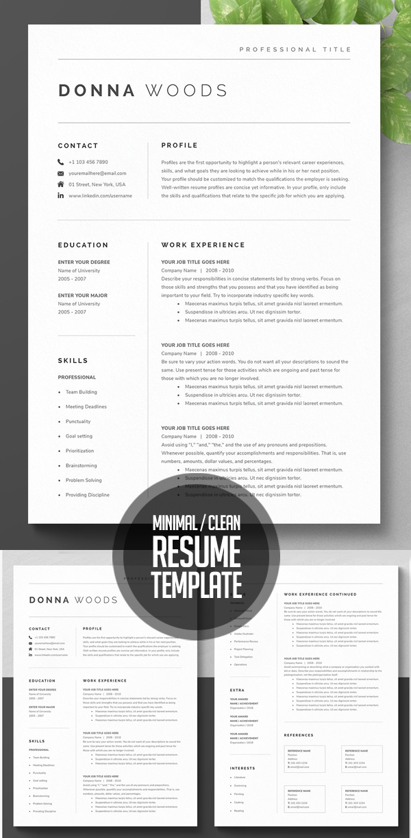 Resume Design Simple and Clean Template