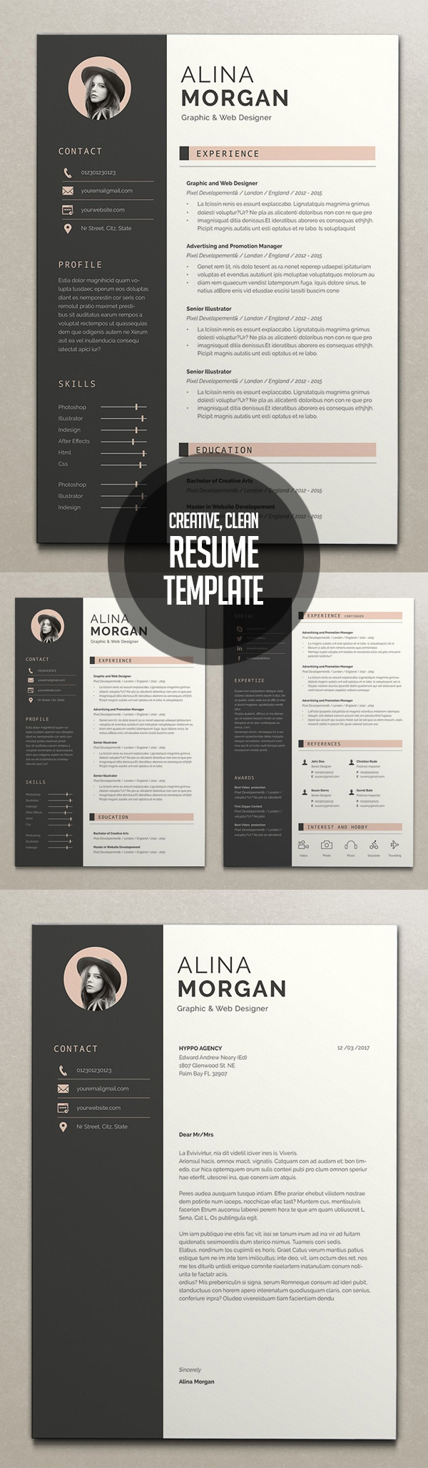 Creative Simple Resume + Cover Letter