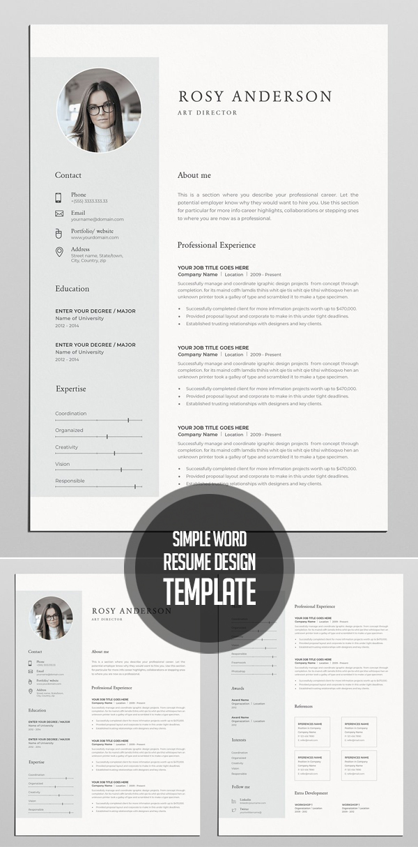 Simple Word Resume & Cover Letter