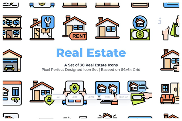30 Real Estate Icons