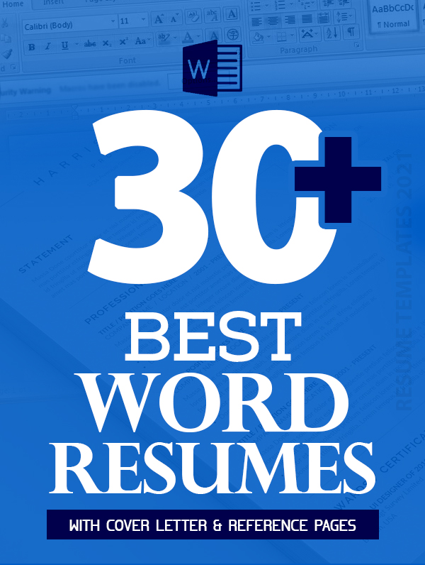 30+ Best Word Resume Templates Of 2021