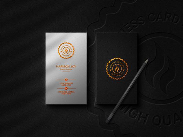 Download Free Business Card with Logo Mockup