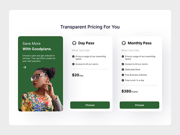 Pricing Tables UI Component