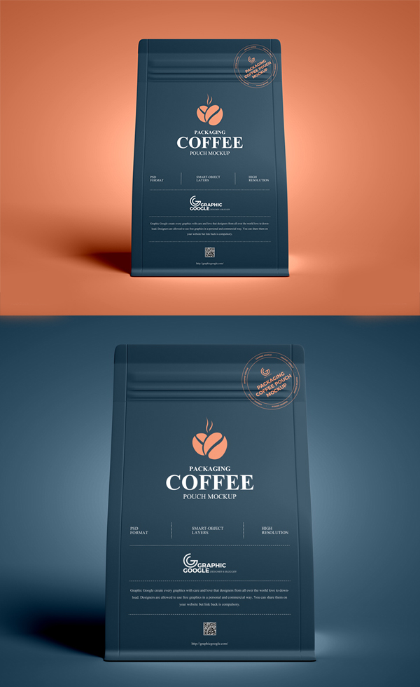Free Coffee Pouch Mockup