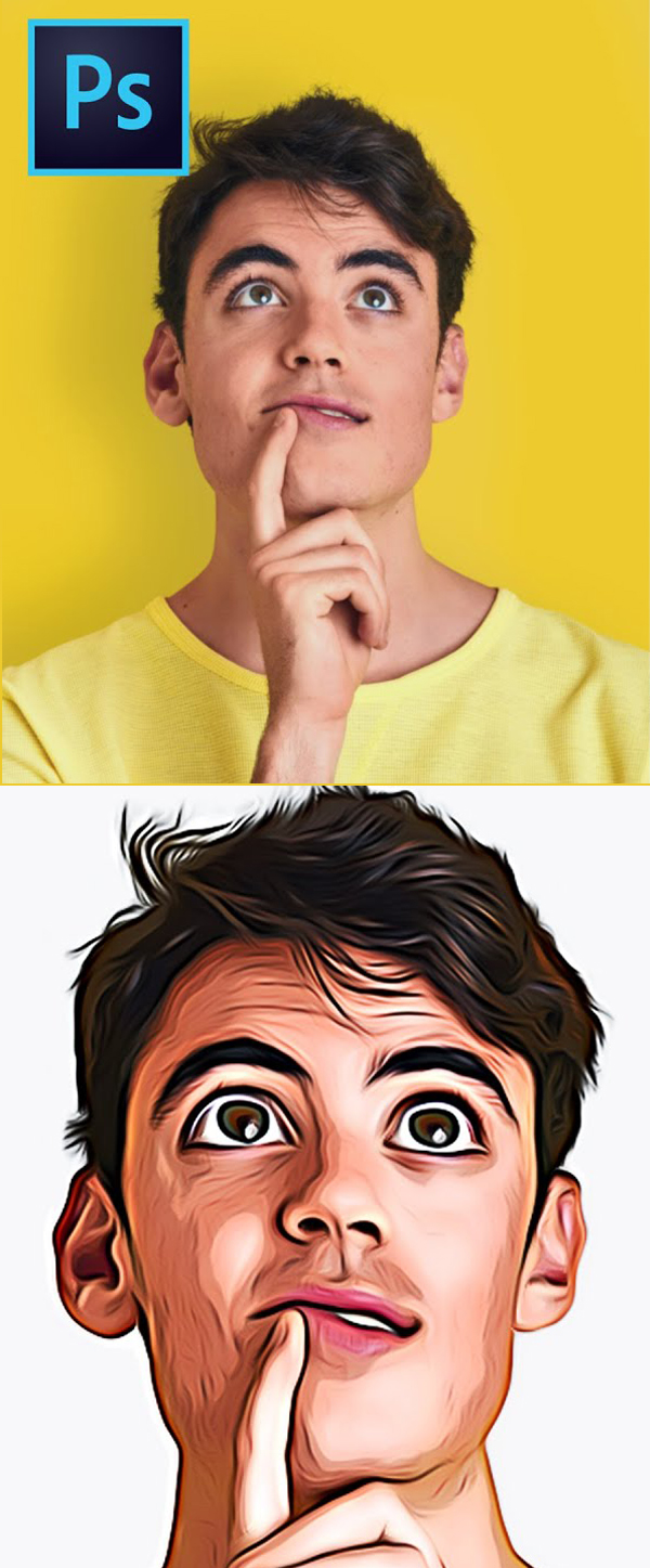 How to Turn Photo to Cartoon Effect in Photoshop Tutorial